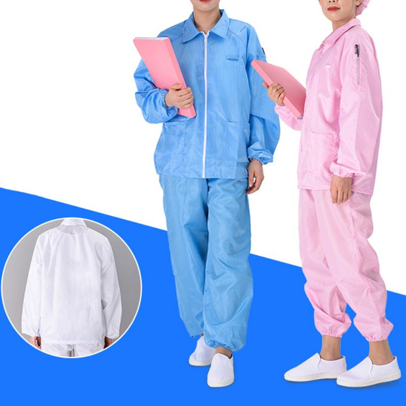 Anti-static Coveralls Clean Clothes Hood Cleanroom Garments Clean Food Dust-proof Paint Work Clothing Unisex Protective Overalls