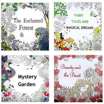 New 12 Pages Enchanted Forest English Edition Coloring For Children Adult Relieve Stress Kill Time Painting Drawing Book image