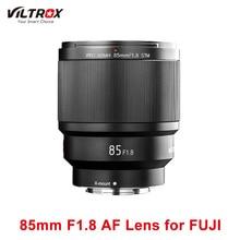 VILTROX 85mm F1.8 lente de enfoque fijo AF de marco completo X montaje de enfoque automático lente de retrato principal para Fujifilm Fuji FX lente de cámara de montaje