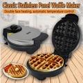 Kbxstart электрическая вафельница  мини Бутербродница для хлеба  домашняя выпечка  тостер для завтрака  автоматическая машина для приготовлени...