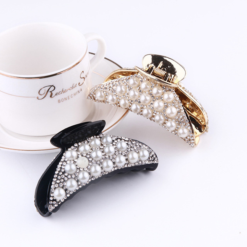 2020 Rhinestones Beads Hairgrip Hairpins Hair Accessories Ornaments Barrette Pearl Hair Claw Hair Clip For Women Girl