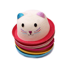 Summer Baby Soft Sunhat Cartoon Children Breathable Straw Hat kids Outdoor Sunscreen hats Baby Photography Props Bonnet Enfant(China)