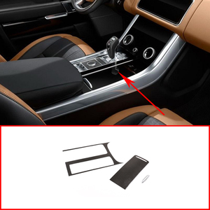 Carbon Fiber Style For Range Rover Sport RR Sport 2018 2019 2020 ABS Plastic Center Console Panel Cover Trim Left Hand Drive(China)