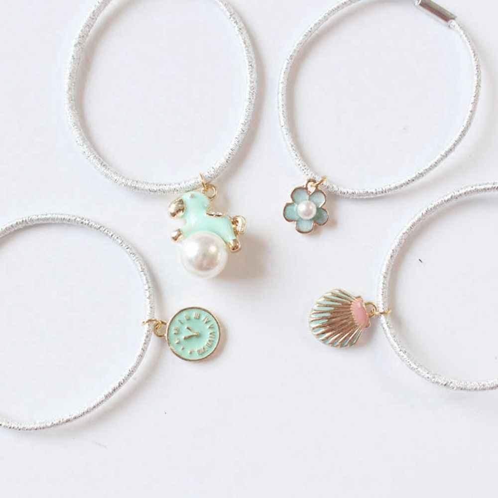 Новый специальный дизайн мятно-зеленая серия волос лента веревка кольцо Эластичная резинка для волос конский хвост держатель декор для женщин Девушка аксессуары для волос