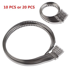 10/20PCS Stainless Steel Drive Shaft CV Boot Clamp Kit Universal Adjustable AXLE CV Joint Boot Crimp Clamp For Car ATV Motorbike