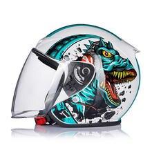Мотоциклетный шлем с двойным козырьком откидной в горошек внутренним
