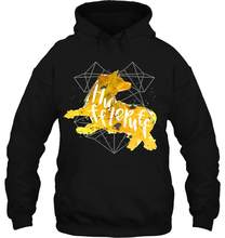 Men Hoodie Printedhort Sleeve Hufflepuff Black Splatter Women Streetwear(China)