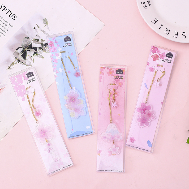Sakura Pendant Bookmark Book Holder Message Card Gift Stationery