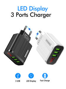 Usb-Charger Led-Display Xiaomi Eu-Us-Plug Smart Samsung iPhone 11 for XR Tablet 3-Ports