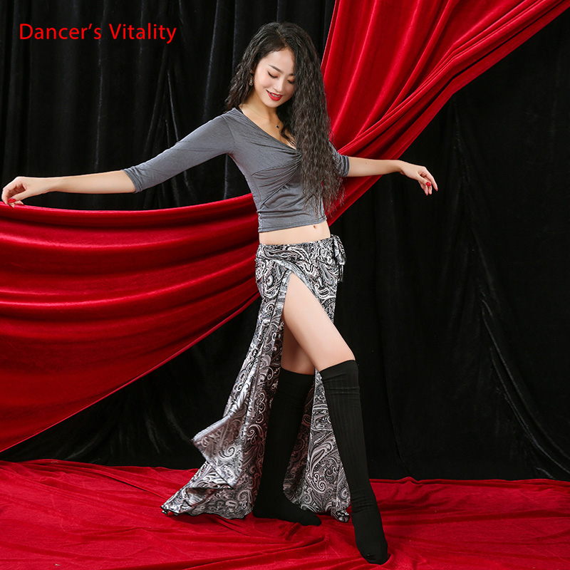 New Belly Dance Clothes Sexy Half Seeves Top+Long Dress 2pcs Belly Dance Set For Women Belly Dance Clothing