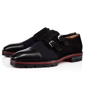 Qianruiti мужская деловая обувь, черные, синие Мужские модельные туфли-оксфорды на ремешке без застежек, модная обувь в стиле пэчворк, мужская мо...