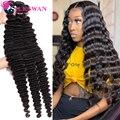 Волосы Silkswan, бразильские волнистые волосы, пряди длинных дюймов, 32 34 36 38 40 дюймов, человеческие волосы Remy для чернокожих женщин