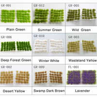 Simulation plant grass needle building toy model grass bush building material making DIY scene scene supplies sand table diorama