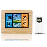 New Creative Digital Weather Forecast Station Wall Alarm Clock Snooze Function Weather Forecasts Waterproof Temperature Humidity