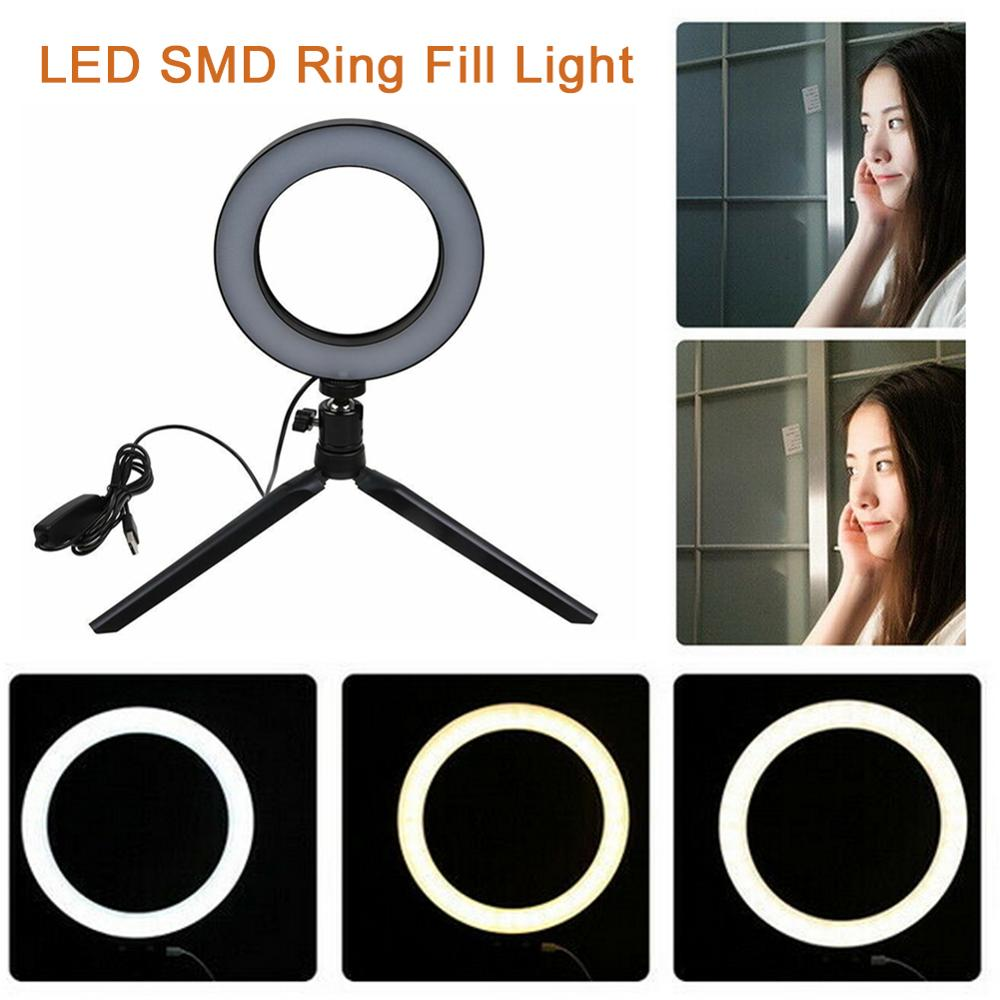 cheapest LED Ring Fill-Light Lamp Selfie Camera Phone Studio Tripod Stand Video Dimmable anillo de luz led foto estudio