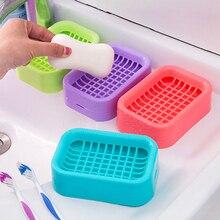 Practical drain soap box grid soap tray creative plastic washing supplies