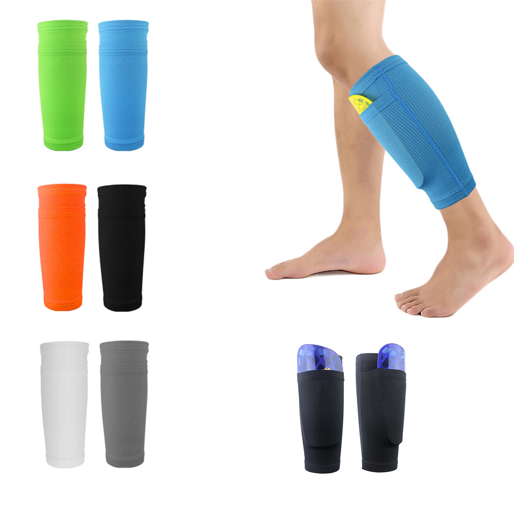 1 Pair Football Leggings Inserts Pockets Knee Pads Cover Breathable Soft Comprehensive Outdoor Knee Protection Pads