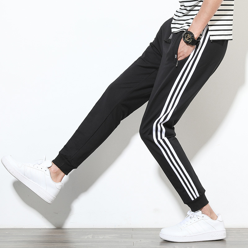 New Style Japanese-style White Walls Youth Three Bars Skinny Loose Casual Men's Large Size Athletic Pants L-f31-sg01