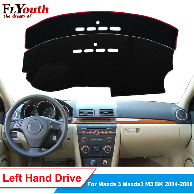 Car Dashboard Cover For Mazda 3 <font><b>Mazda3</b></font> M3 BK 2004 2005 2006 <font><b>2007</b></font> 2008 Sun Shade DashMat Dash Board Cover Carpet Anti-UV Non-slip image