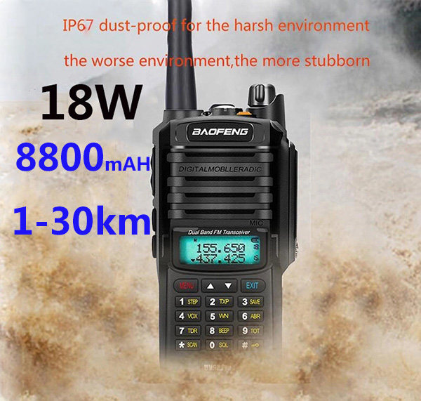 IP68 2020 Upgrade uv9r Baofeng UV-9R plus 50km walkie talkie 18W hf two way radio vhf uhf ham radio long range CB radio station