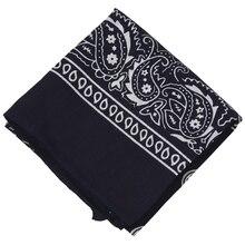 """Темно-синие квадратные банданы с узором """"огурцы"""" двухсторонняя повязка на голову шарф браслет"""