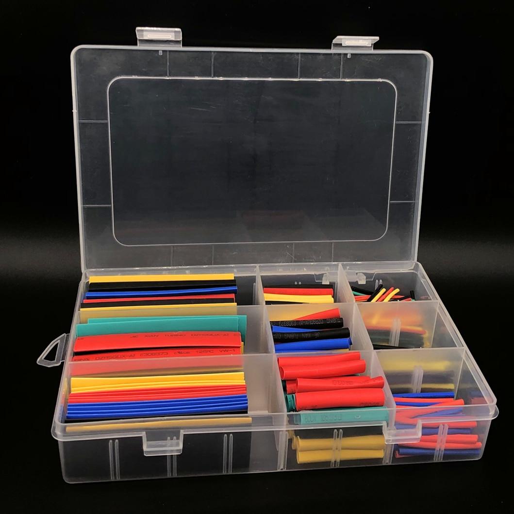 328 sztuk termokurczliwe rury izolacji rur, termokurczliwa rurka asortyment elektroniczny poliolefinowe drutu rękaw kablowy termokurczliwy zestaw