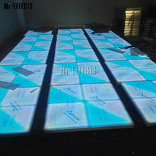 20pcs/lot Wedding Floor DMX Control LED Dance Floor for Sale 1x1 Meter Light Up Floor for Events Bar Nightclub(China)
