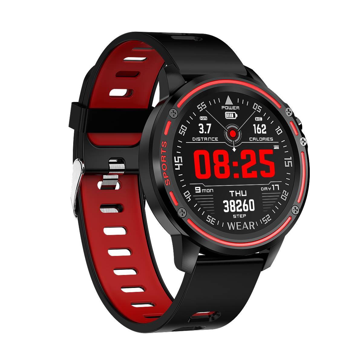 Microwear L8 ECG + PPG O2 moniteur plein écran tactile IP68 sport Mode bluetooth contrôle de la musique météo montre intelligente Fitness hommes femmes