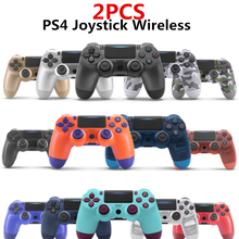2PCS PS4 Controller Wireless Bluetooth Gamepad 6-Axis Dual Vibration Joystick For Ps4 PS3 PC Laptop iPad Mobile Phone