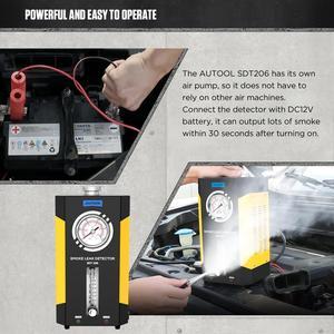 Image 2 - AUTOOL SDT 206ควันเครื่องกำเนิดไฟฟ้าสำหรับรถยนต์Smog Tester Leak Locatorรถยนต์ควันรถเครื่องตรวจจับท่อDiagnostic