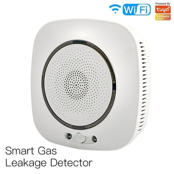 цена на WiFi Smart Gas Leakage Fire Security Detector Gas Combustible Alarm Sensor Smart Life Tuya App Control Home Security System EU P