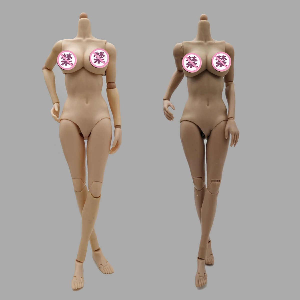 1/6th mujer soldado cuerpo figura suntan/trigo serie 1/6 escala Super flexible sin costuras mujer cuerpo repago versión modelo de cuerpo