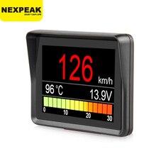NEXPEAK A203 OBD2 על לוח מחשב רכב דיגיטלי מחשב טיול תצוגת מהירות צריכת דלק טמפרטורת מד OBD2 סורק