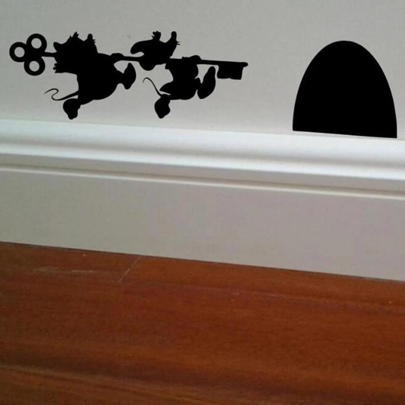 Wall Art Sticker Mouse Hole Vinyl Decal