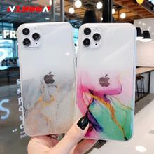 N1986N kolorowe dla iPhone 11 Pro X XR XS Max 7 8 Plus SE 2020 przypadku telefonu mody brokat Bling malowane jasne IMD dla iPhone 11 tanie tanio Aneks Skrzynki Glitter Bling Colorful Watercolor Painted Clear Apple iphone ów IPHONE X Iphone 6 IPhone11 IPHONE 8 iphone xs