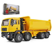 Large 1:50 Simulation Engineering Transportation Dump Truck Boy Toy Alloy Site Static Dump Model Collection cat caterpillar ct660 dump truck yellow 1 50 model by diecast masters 85290