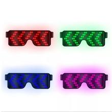 Get more info on the 8 Modes Glowing Luminous Sunglasses Quick Flash USB Led Party USB Charge Glasses Christmas Concert Light ToysCM