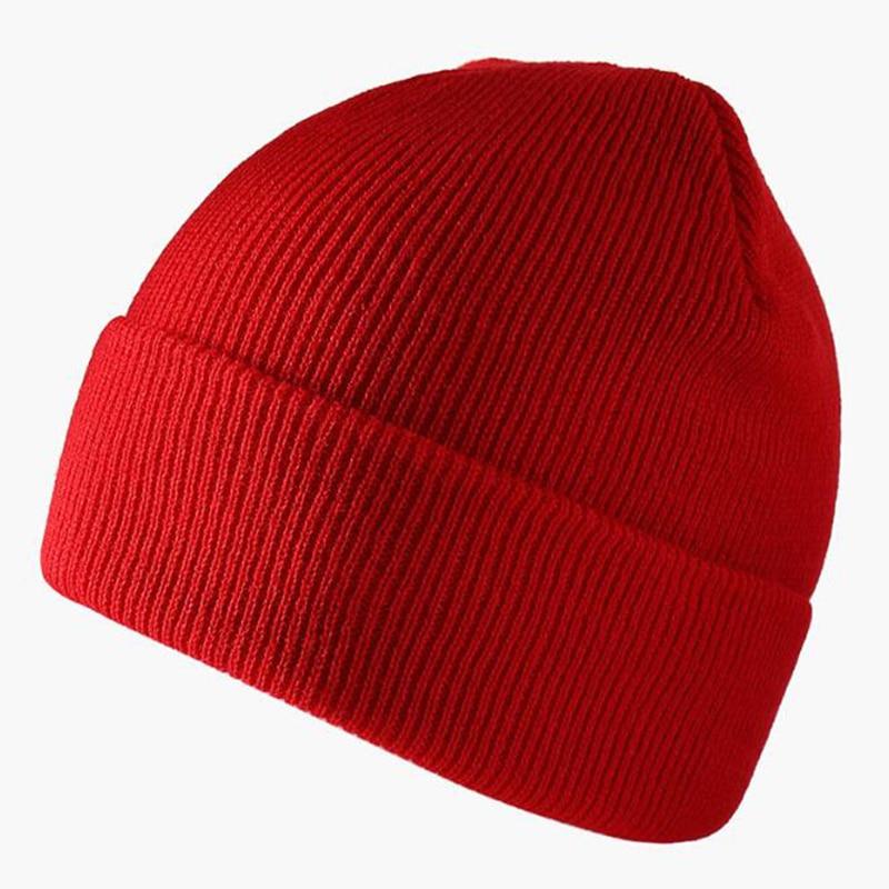 Однотонная шапка унисекс осенне зимняя мягкая теплая вязаная