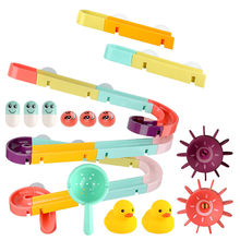 Baby Bath Toys Suction Cup Race Orbits Track Kids Bathroom Bathtub Play Christamas Gift Toys Children's gift kid toys 2020(China)