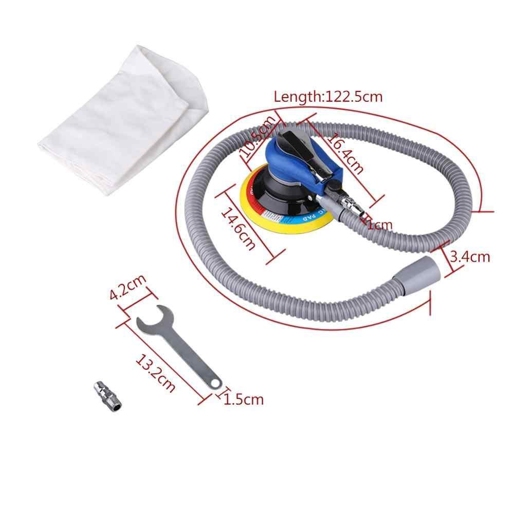 Pulidor de lijadora de Palma Orbital al azar 6 pulgadas 150mm almohadilla herramienta neumática colección de polvo llave de manguera pulidora de polvo bolsa