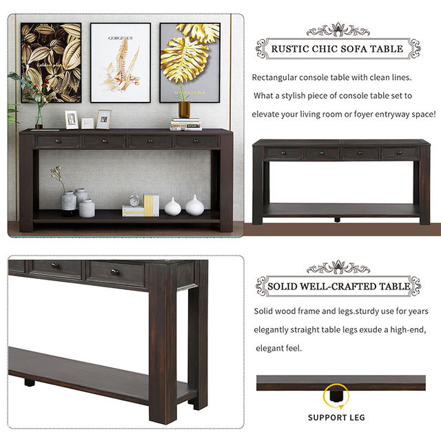 Console Side Entryway Sofa Table  4