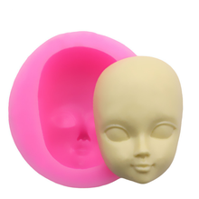 DIY Girl Face Silicone Mold Fondant Molds Cake Decorating Tools Woman Mask Mould Polymer Clay Resin Molds(China)