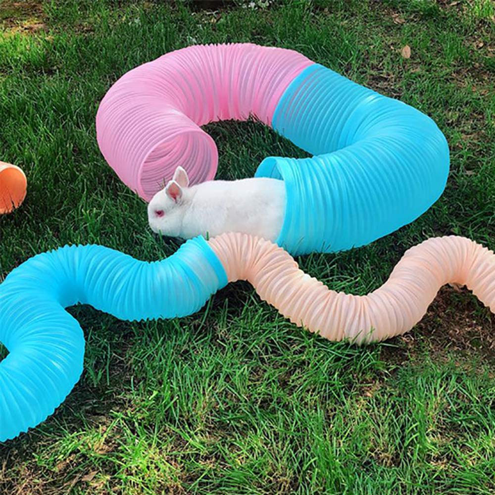 Hamster Tunnel Toy Small Animal Hamster Rabbit Play Tunnel Collapsible Plastic Hamster Tunnel Guinea Pig Small Pet Supplies