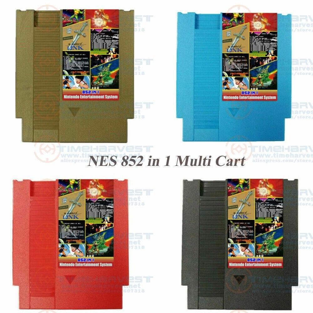 New Forever Duo NES Multi Games Nintendo Cartridge Cart 852 In 1 Plus Game Cartridge (405 + 447) Game Card For US NES Console