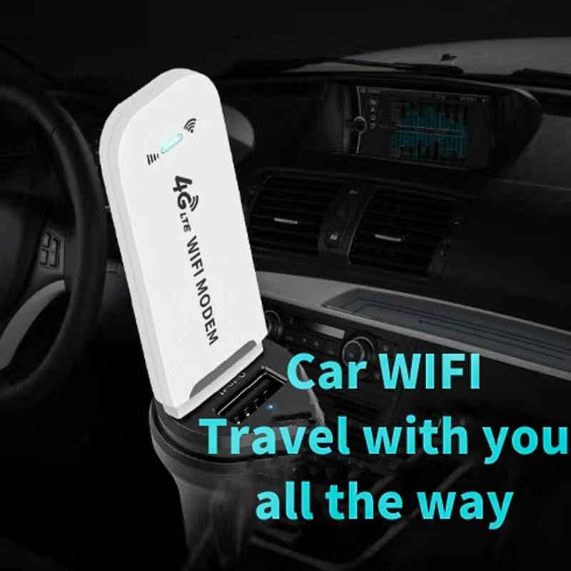 4G WiFi Router 100Mbps Wireless Modem USB A Banda Larga Mobile Hotspot LTE 3G/4G Sbloccare Dongle con Slot Per SIM Bastone Data di Carta