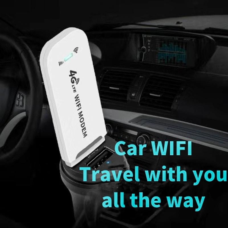 4G WiFi Router 100Mbps USB Modem Wireless Broadband Mobile Hotspot LTE 3G 4G Unlock Dongle with SIM Slot Stick Date Card
