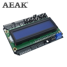 AEAK 1PCSปุ่มกดLCD LCD1602 โมดูลLCD 1602 จอแสดงผลสำหรับArduino ATMEGA328 ATMEGA2560 Raspberry Pi UNOหน้าจอสีฟ้า