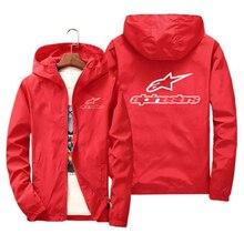 Alpinestars primavera verão alta montanha estrela jaqueta masculina rua blusão com capuz zíper fino jaqueta masculina jaqueta casual 7xl