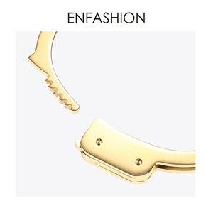 Image 5 - ENFASHION אזיקים קאף צמיד Manchette זהב צבע נירוסטה פאנק צמידי צמידים לנשים תכשיטים B192057