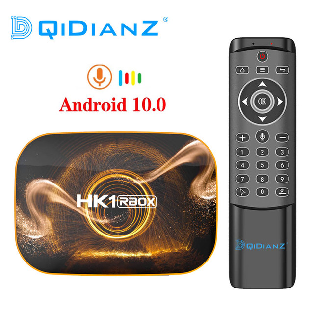 HK1 R1スマートテレビボックスアンドロイド10.0 4ギガバイト64ギガバイトなrockchip RK3318 1080 1080p H.265 4 18k googleプレーヤー店HK1 rbox R1セットトップボックスpk H96 X96